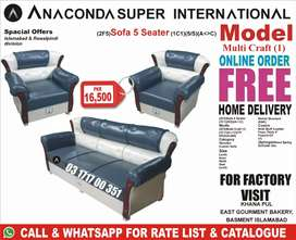 Sofa Set 5 Seater Double Bed Set Single bed Wood Furniture Factory.
