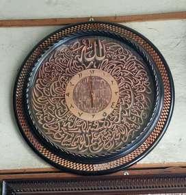 Jam Dinding Ukiran Kaligrafi Ayat Kursi