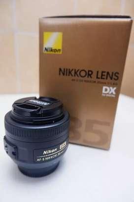 Nikkor AF-S 35mm f/1.8G lengkap dengan kotak