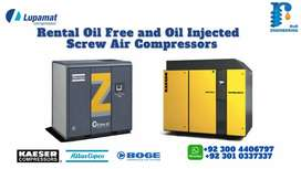 Rental Oil free and Oil Injected Screw Compressors and their Services
