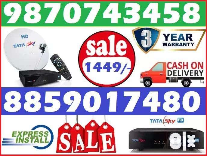 Tata Sky New HD BOX-Tatasky Dish tv D2H videocon Dishtv DTH-Best Offer 0
