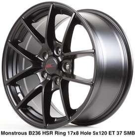 HSR Monstrous ring 17x8 hole 5x120 et 37