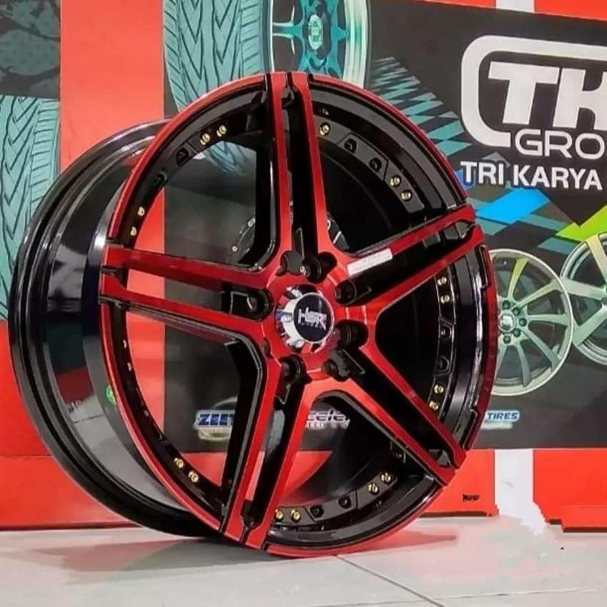 Velg HSR Lucero R16X7 H8X100-114.3 ET38 Black Red Face
