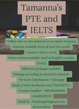 PTE, Ielts and other English courses