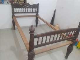 Antique Rose wood cerved bed