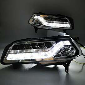 Volkswagen Polo and ameo led fog lights DRL with matrix indicators