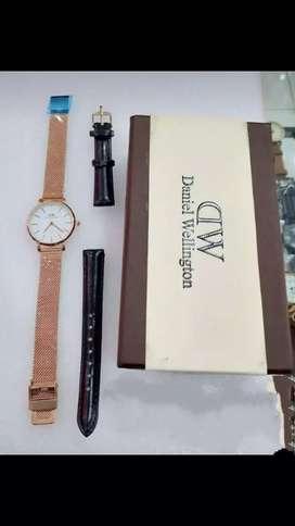 Jam tangan dw white gold box+strap lengkap dah 38mm