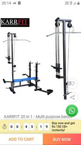 complete home gym setup. 20 in 1 bench