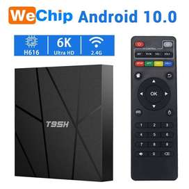 Best box 6K T95H smart android tv box 4/32 androi 10.0