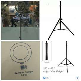 video stand 7feet height and ring light 26mm