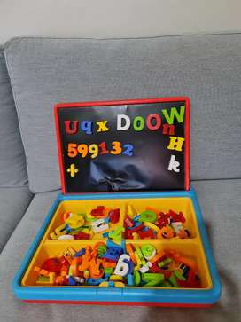 Mainan edukasi huruf angka koper magnet ELC