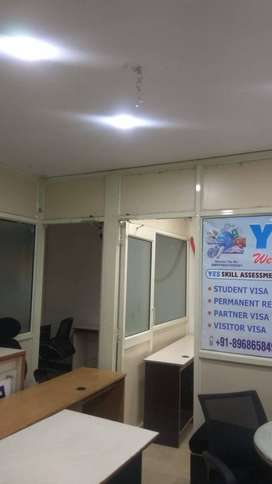 Fully-furnished 400 sqft office space on lease in chd