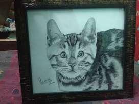 A5 size Hyper realistic cat potrait
