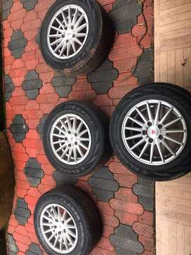 15 inch alloy with jk tyre