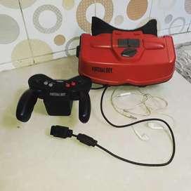Console game langka Nintendo virtual boy, komplit normal, kaset tenis