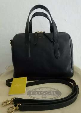 Original Fossil Sidney Satchel Black