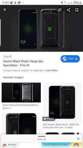 Xiaomi Blackshark Ram 8gb/memori 128 gb
