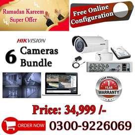Brand New 6 CCTV Security Cameras Bundle