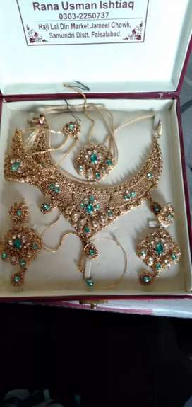 Bridal and wallima jewellery only one time used new condition in