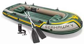 Intex Seahawk 4 Boat Set four man inflatable dinghy with oars and pump