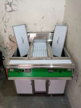 fryer with sizzling 16,16 litrs 2 tank