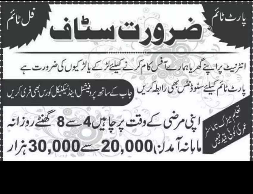 Job available in Lahore for educators 0
