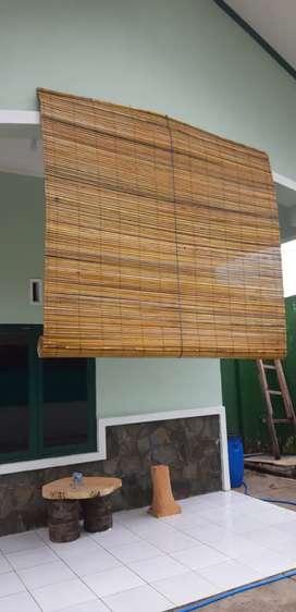 Tirai rotan,bambu isi dan kulit,tirai kayu