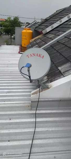 Parabola antena mini Chenel lengkap