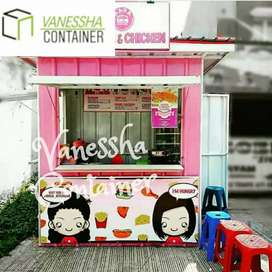 BOOTH CONTAINER USAHA / CONTAINER CUSTOM ANGKRINGAN / CONTAINER