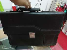 Black premium quality leather bag