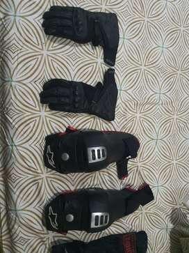 Alpinestars Bionic knee guard and alpine stars gloves