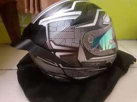 Helm KYT K2R K2 Rider Black panther paket ganteng