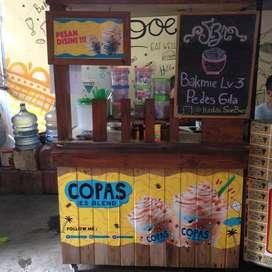 "booth kayu gerobak rombong bekas franchise ""COPAS"" murah bsa nego aj"