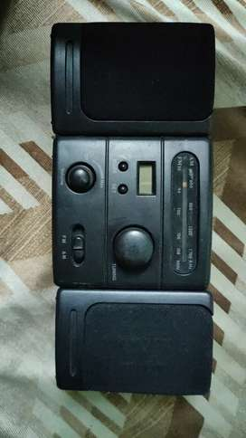 Antic old model walkman and Fm radio