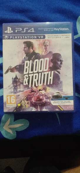 Ps4 VR blood and truth