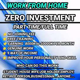 No investment work from home opportunity
