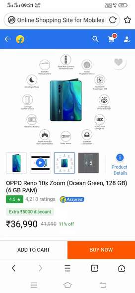 Reno 10x zoom 6-128