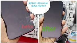 Iphone 12pro max display glass replace