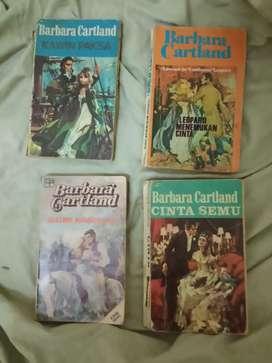 4 buku cerita/novel Barbara Cartland