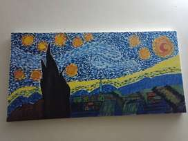 Starry night painting for sale