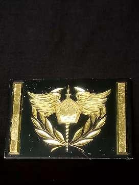 Custome emblem, almunium plat..Dim12cm