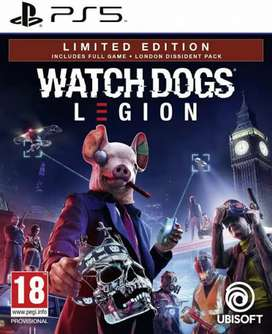 Watch dog Legion and Mafia Definitive Edition all games available ps4