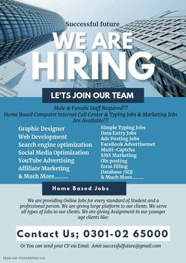 Work anywhere in Pakistan join us online and get part time