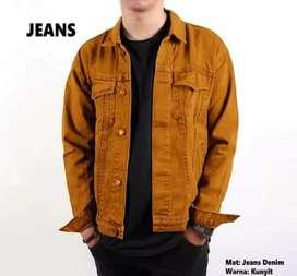 Jaket jeans pria tebal import