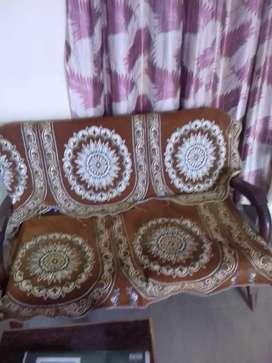 Double sofa and 2 single sofa