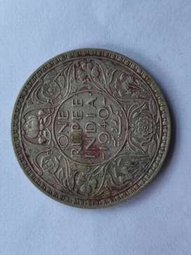 Old original Coin of 1 rupee