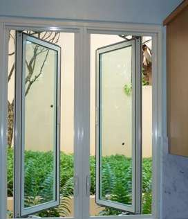 Jasa pemasangan pintu jendela rumah minimalis bahan aluminium