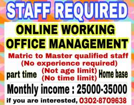 Online jobs (part-time, full-time, home- base) student and teachers