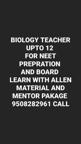 Biology teacher at your home for neet prepration and boards