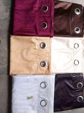 Plain velvet curtains